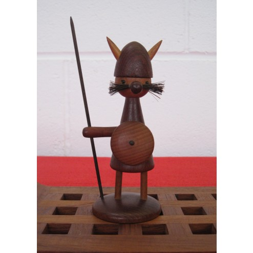 "Danish teak Viking figurine ""gonk"" c1960s - Denmark"