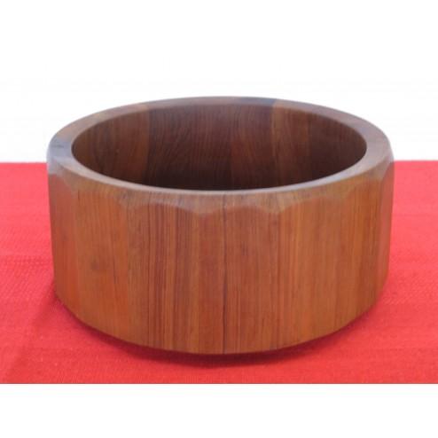 Jens Quistgaard large staved teak fruit bowl for Dansk Designs c1960s - Denmark