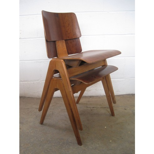 "Robin Day 1st Edition  ""Hillestak"" chairs for Hille c1953 - England"