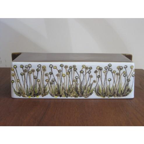"Ellen Malmer Baca Fajance ""Flowerburst"" kitchen roll holder shelf for Royal Copenhagen c1960s"
