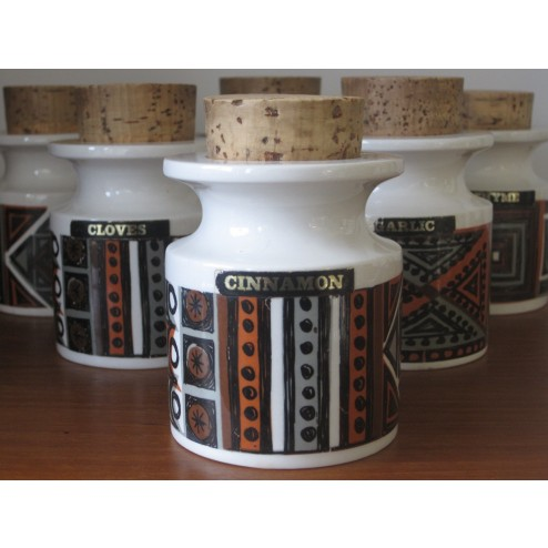 Variations spice jars by Susan Williams Eliis for Portmeirion Pottery - England c1964