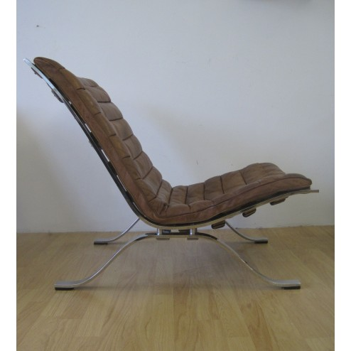 """Arne Norell """"Ari"""" lounge chairs for Norell - Sweden c1968  - Pair Available"""