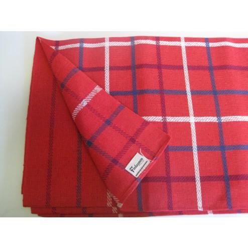 Finlayson - Finland.        Red check tablecloth c1960s
