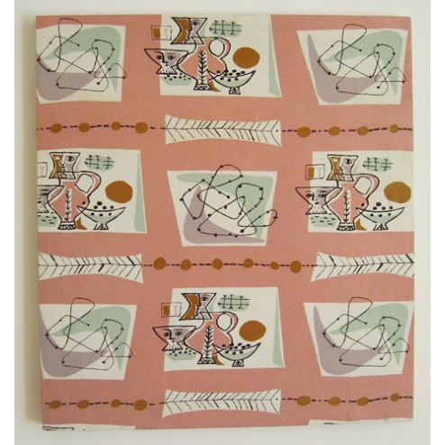 Jacqueline Groag very Rare Groag Textile of Fun Abstract Design