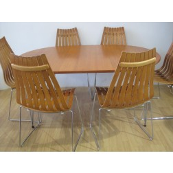 "Hans Brattrud ""Scandia"" Dining Set for Hove Mobler - Norway c1969"