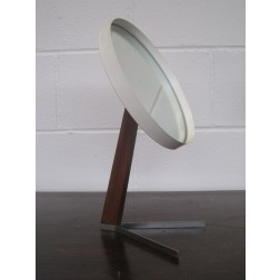 Durlston Designs duel prong pedestal vanity mirror c1965
