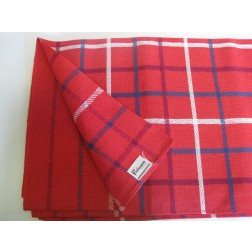 Finlayson - Finland.        Red check tablecloth c1960s