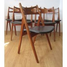 "Hans J Wegner set of 6  CH29 ""Sawbuck"" chairs"