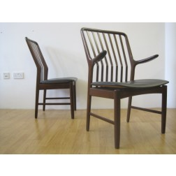 Danish dining chair set by Svend Aage Madsen c1962 - Denmark