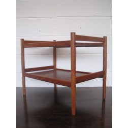 Danish Teak two tier table / TV audio unit c1960s - Denmark